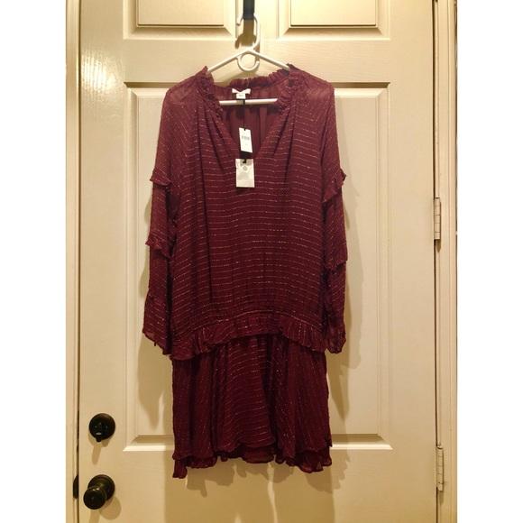 Hoss Intropia Dresses & Skirts - Long Sleeve Mini Dress In Wine by Hoss Intropia.
